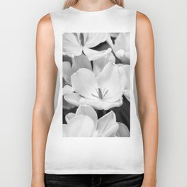 The Bloom (Black and White) Biker Tank