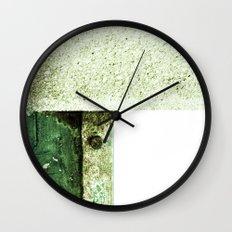 White Green Concrete Wall Clock
