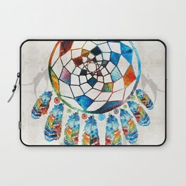 Native American Colorful Dream Catcher by Sharon Cummings Laptop Sleeve