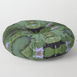 Water Lily Pattern Floor Pillow