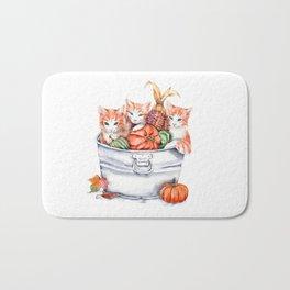 Harvest Kittens Bath Mat