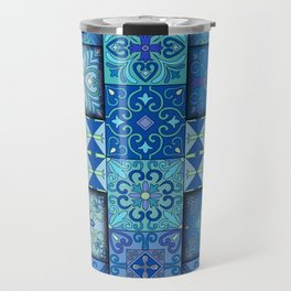 Vintage mosaic talavera ornament Travel Mug