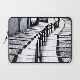 lines and stairs in black and white Laptop Sleeve