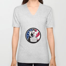 American Laundry USA Flag Icon Unisex V-Neck