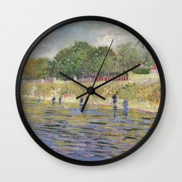 Bank of the Seine by Vincent van Gogh Wall Clock