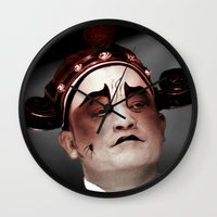 actor Wall Clocks featuring Chinese opera (Actor Portrait). by Ian Gledhill
