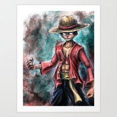 The King of Pirates a Tra-Digital Portrait Art Print