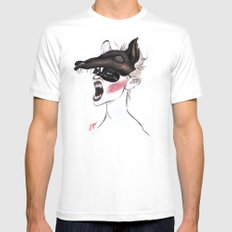 The Masquerade: The Wolf MEDIUM White Mens Fitted Tee