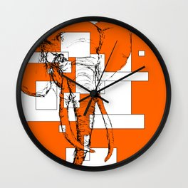 Orange is the New Elephant Wall Clock
