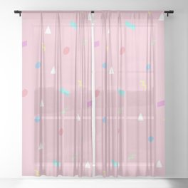 Party Time 90s Style Sheer Curtain