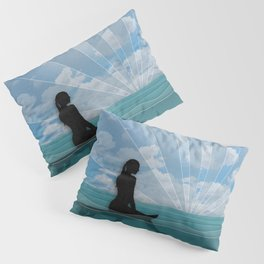 View from a Surfboard Pillow Sham