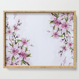 Cherry Blossom painting Serving Tray