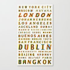 Travel World Cities Canvas Print