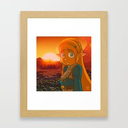Zelda: Breath of the Wild Framed Art Print