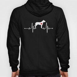Dogo Argentino Mastiff heartbeat Hoody