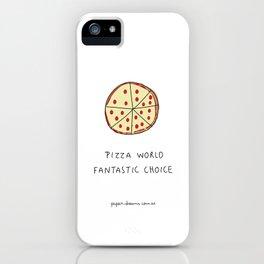 Pizza World iPhone Case