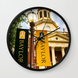Baylor University Banner Campus Print Wall Clock