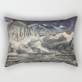 Winter Auroras - mountain range Rectangular Pillow