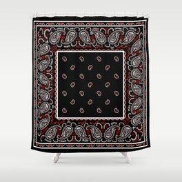 Wicked Black Bandana Shower Curtain