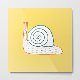 Cutest Snail Metal Print