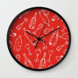 Bottles & Glasses Wall Clock
