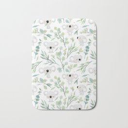 Koala and Eucalyptus Pattern Bath Mat
