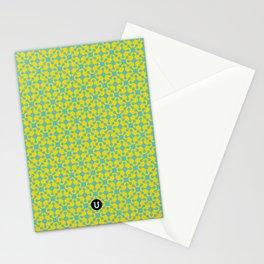 U15: blue atomic Stationery Cards