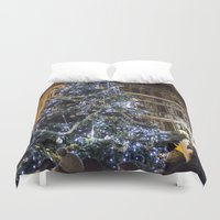 new year Duvet Covers featuring New year 4 by Veronika