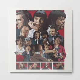 Quentin Tarantino's Pulp Fiction Fan Poster Metal Print