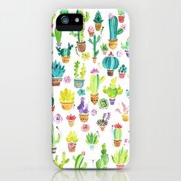 Happy Cactuses iPhone Case