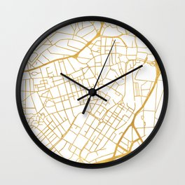 SHEFFIELD ENGLAND CITY STREET MAP ART Wall Clock