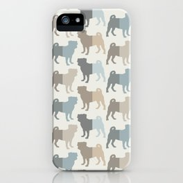 Pugs Pattern - Natural Colors iPhone Case