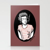 smoking Stationery Cards featuring Smoking by LePomiere
