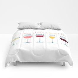 Love is Love is Love is Wine Comforters