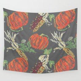 pumpkin picking Wall Tapestry