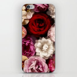 Pink, White, and Red Roses iPhone Skin