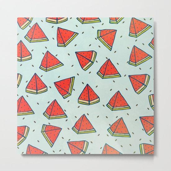 Watermelon doodles  Metal Print