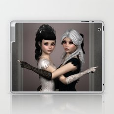 Beautiful Ladies and a difficult choice Laptop & iPad Skin