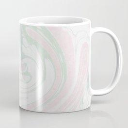 Paper Marbling Marble Effect Swirl Pink Green Coffee Mug