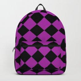 Rhombus (Black & Purple Pattern) Backpack