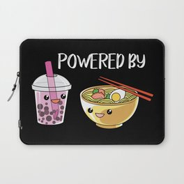Powered by Ramen and Boba-Tea Laptop Sleeve