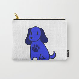 The Blue Dog With Paw Print Carry-All Pouch