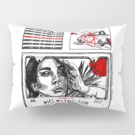 White Mustang Pillow Sham