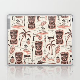 Tropical Tiki - Cream Pink Laptop & iPad Skin