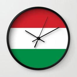 flag of Hungary Wall Clock