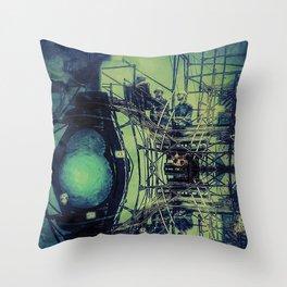 Train Scaffolding Throw Pillow
