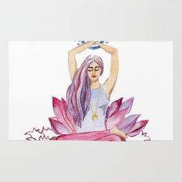 yoga girl Rug