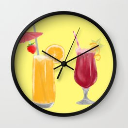Summer drinks Wall Clock