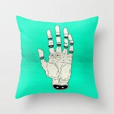 THE HAND OF DESTINY / LA MANO DEL DESTINO Throw Pillow