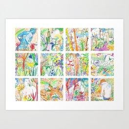 Nature of Men II Art Print